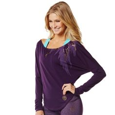Stylin' Long Sleeve Tee |Use affiliate code 10SALE or shop thru this link to get 10% off! http://www.zumba.com/en-US/store/US/affiliate?affil=10sale