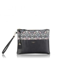 The William Morris large leather zip-top clutch bag is the perfect day to night piece. New from Radley! Leather Handbags Online, Designer Leather Handbags, Radley Bags, Very Good Girls, Liberty Art Fabrics, William Morris, Clutch Bag, Shoe Bag, Lady