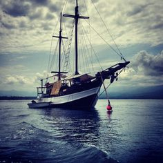 Blue Marlin Resto Boat. Lombok, Indonesia