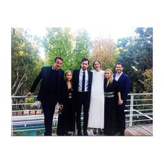 Olivier, Mary-Kate, Ashley, and Hayden Slater at the engagement party of Maggie Kayne (next to Ashley) and Travis Bradley Hayden (in the middle)