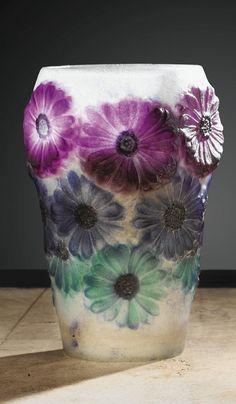 gabriel argy rousseau | Gabriel Argy-Rousseau (1885-1953), Pâte de verre, Vase.