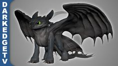 Sculptris - Nightfury, How to Train Your Dragon