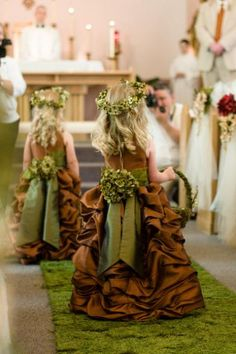 These flower girl dresses are darling, but I am guessing they're too expensive for my budget. Plus I don't think there would be any little kids in the wedding party Aisle runner Wedding Inspiration Wedding Events, Wedding Gowns, Wedding Hair, Fall Wedding, Dream Wedding, Magical Wedding, Sister Wedding, Rustic Wedding, Budget Bride