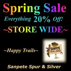 20% Off STORE-WIDE SALE Happy Trails, 20 Off, Spring Sale, Store, Tent, Larger, Business, Shop