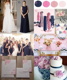 Wedding colors navy pink inspiration boards for 2019 Wedding Wall, Our Wedding Day, Summer Wedding, Dream Wedding, Wedding Themes, Wedding Colors, Wedding Decorations, Wedding Ideas, Color Inspiration