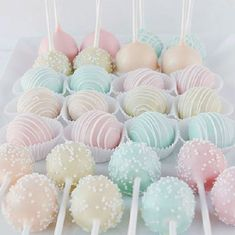 45 Creative Non-Traditional Wedding Dessert Ideas Pastel-colored Cake . - 45 Creative Non-Traditional Wedding Dessert Ideas Pastel-colored cake pops for the weddi - Pastel Cakes, Colorful Cakes, Colorful Desserts, Colorful Drinks, Pastell Party, Kreative Desserts, Different Types Of Cakes, Beaux Desserts, Nontraditional Wedding
