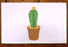 Prickly Plant Blank Stationery Cards  Set of 5