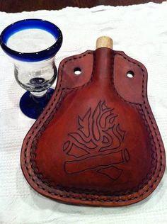 Leather Liquids Pouch for Bushcraft by jstalljon