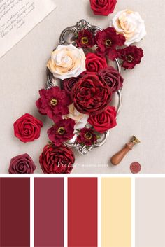 Color palettes and color inspiration for wedding. Dusty Rose Wedding Color Ideas for 2020