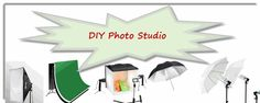Lets check out some diy photography studio ideas - lighting, backdrops,props, camera settings and more. Even some tips for photography softboxes and light tents, umbrella and light stands and other great photography equipment ideas for product photography and portrait photographers!