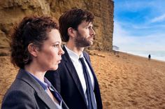 David Tenant and Olivia Colman of Broadchurch, Season 1 from the BBC.  I'm currently watching season 1 and what an excellent series!!