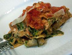 Lakselasagne med spinat og mascapone