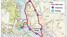 Route map for Derwent Valley, a bracing walk, Peak District