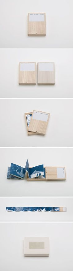 Prototypebook / Ai Sasaki: VOYAGE --> leporello in een doosje Cv Inspiration, Illustration Inspiration, Graphic Design Inspiration, Design Ideas, Brand Packaging, Packaging Design, Branding Design, Book Packaging, Portfolio Design