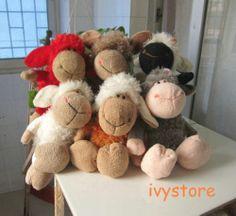 6pcs NICI Colorful Sheep Fuzzy Plush Doll Small Dolls Toy 23cm New 3 | eBay