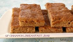 Post image for Recipe: Grain-Free Cinnamon Breakfast Bar paleo breakfast weightloss Breakfast Bars, Paleo Breakfast, Breakfast Recipes, Brunch Recipes, Gluten Free Breakfasts, Gluten Free Recipes, Coconut Flour, Almond Butter, Foods With Gluten