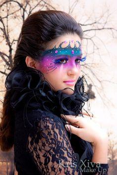 Maquiagem artística, Artistic make up, face painting, Kris Xiva, Máscara, com Camila Soguim, Studio Le Grain, Belo Horizonte, MG, www.legrain.com.br