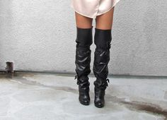 DIY over the knee boots