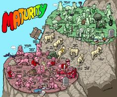 Maturity isn't just about age, nor does it have to do with being well mannered. This metaphor between goats and maturity shows us what being mature is about. After All This Time, Online Comics, Winston Churchill, I Wallpaper, Images Gif, Thought Provoking, Climbing, Funny Jokes, Hilarious