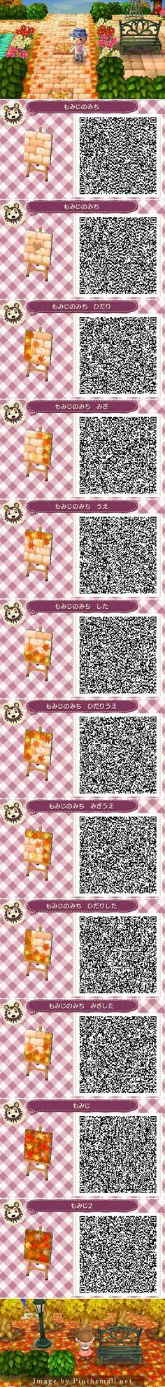 Autumn Leaves Pathway QR codes: