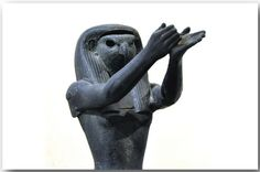 https://flic.kr/p/dGnKca | Musée du Louvre, Paris. | Statue of Horus. Detail. Bronze. 1069-664 B.C. Inv.nr. E 7703 Musée du Louvre, Paris.  Here is  some additional information from the Louvre Museum: Originally, this bronze statue of the god Horus was covered with precious materials; inlays of glass or colored faience; and gilt coating or gold plate, to evoke the eternal indestructible flesh of the gods. These elements also concealed the joints between the various sections cast using the…