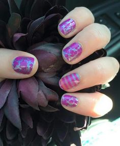 Girl Talk with It's Complicated Accents by Jamberry.  Available for purchase at http://alirenzi.jamberrynails.net/shop