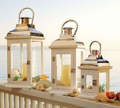 Beautiful for seaside themes but you can showcase small plates or green plants in lanterns for a unique look.