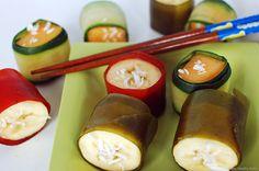 Sushi de frutas para niños
