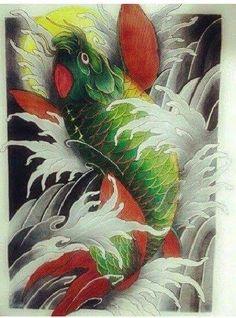 Koi Fish Tattoo, Fish Tattoos, Tatoos, Tribal Tattoo Designs, Tribal Tattoos, Koi Art, Japan Tattoo, Oriental Fashion, Chicano