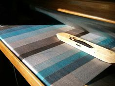 Zoe Acketts Textiles - Silk and wool scarf on the loom