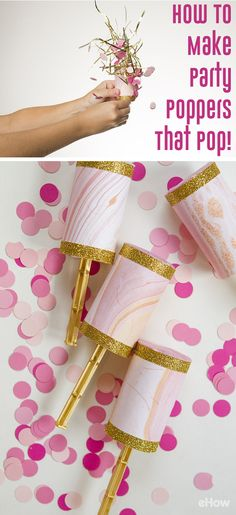 Confetti poppers is exactly what your next party and celebrating is needing! Using pastry tubes, these poppers are easy to make and really add a lot of pizzazz to your party. http://www.ehow.com/how_7697496_make-party-poppers-pop.html?utm_source=pinterest.com&utm_medium=referral&utm_content=freestyle&utm_campaign=fanpage