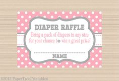 Cute as a Button Baby Shower Digital Diaper by PaperTreePrintables, $5.00