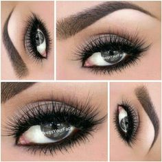 Smokey eye for during the day.