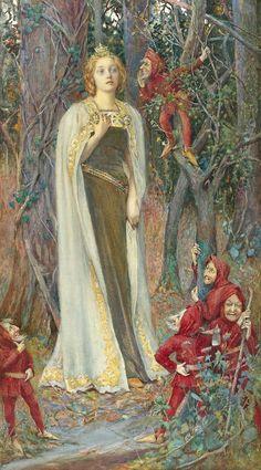 "Henry Meynell Rheam (British, 1859-1920), ""Snow White""♥"