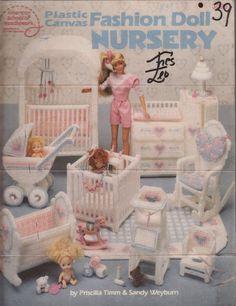 Barbie Plastic Canvas Furniture Fashion Doll Nursery American School Of…