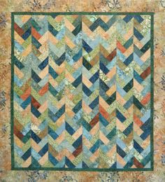 Braids on Parade Quilt Patte. from GabbysQuiltsNSupply on Wanelo Batik Quilts, Jellyroll Quilts, Scrappy Quilts, Easy Quilts, Strip Quilt Patterns, Strip Quilts, Quilting Projects, Quilting Designs, Quilting Ideas