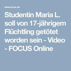 Studentin Maria L. soll von 17-jährigem Flüchtling getötet worden sein - Video - FOCUS Online