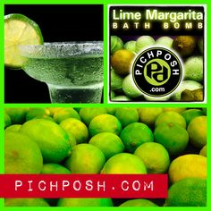 """LIme Margarita Bath Bomb - The DRINK is now THE BOMB! The perfect summertime Lime, ...fresh with just a touch of sweetness. Enjoy this salty """"Sour"""" creation!"""