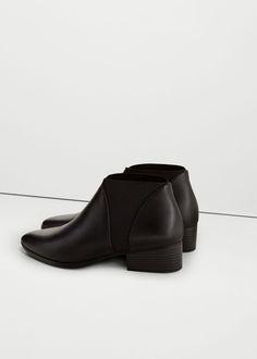 Mango Elastic Panels Ankle Boots $60