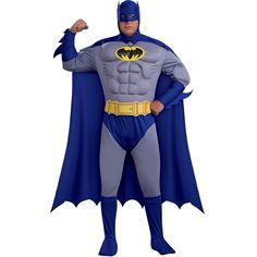 The Batman Brave & Bold Deluxe Muscle Chest Adult Plus Costume is the perfect 2019 Halloween costume for you. Show off your Mens costume and impress your friends with this top quality selection from Costume SuperCenter! Costume Halloween, Costume Batman, Adult Superhero Costumes, Adult Halloween, Adult Costumes, Halloween Night, Halloween Ideas, Batman Halloween, Men's Costumes