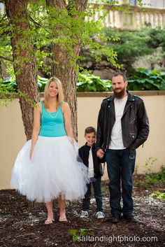 Salt & Light Photography » Kansas City Engagement Photos: Katy & Scott - Salt & Light Photography tutu family photos 50s leather jacket jeans converse mom dad son little young boy family engagements awesome long beard beautiful mommy