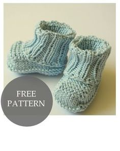 No sew knitted baby booties pattern This baby booties pattern is simple, quick and won't require any sewing. I don't know about you, but I hate sewing. Or seaming. I avoid knitting projects with major sewing. I like sewing, bu. Baby Booties Knitting Pattern, Knit Baby Booties, Baby Knitting Patterns, Knitting Socks, Baby Patterns, Free Knitting, Knit Baby Shoes, Baby Socks, Doll Patterns