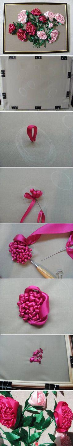 ribbon embroidery                                                                                                                                                     Más