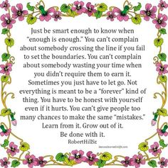 Lessons Learned in Life | Enough is enough.