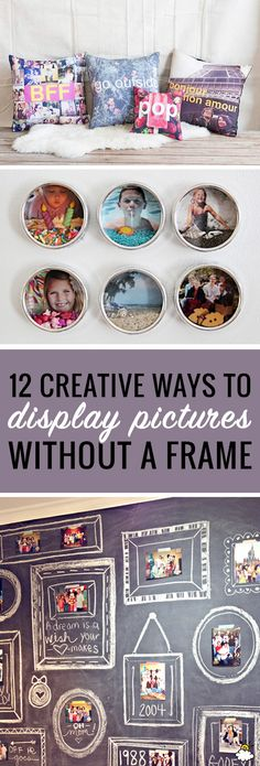 12 Creative Ways To Display Pictures Without Frames