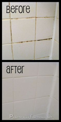 Make your own grout cleaner with bleach and baking soda