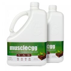 MuscleEgg Mint Brownie Flavored Liquid Egg Whites - 2 Gallons • zero fat • zero cholesterol • 26g of protein per cup • gluten free • lactose free • soy free • no added sodium
