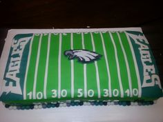 Eagles football field cake