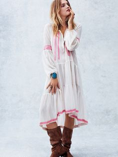 """Free People """"With A Light Heart"""" Dress at Free People Clothing Boutique"""