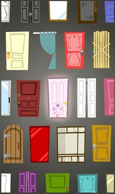 Doors Art Print- Pretty sure this was inspired by Monsters Inc--Iphone wallpaper.